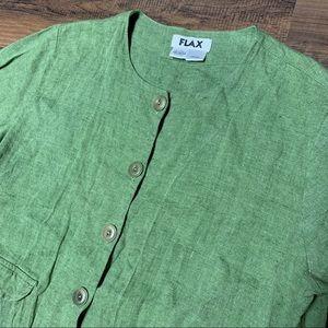 Flax linen Button Up
